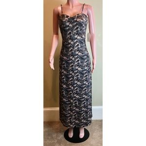Hem & Thread Camo Print Long Maxi Dress